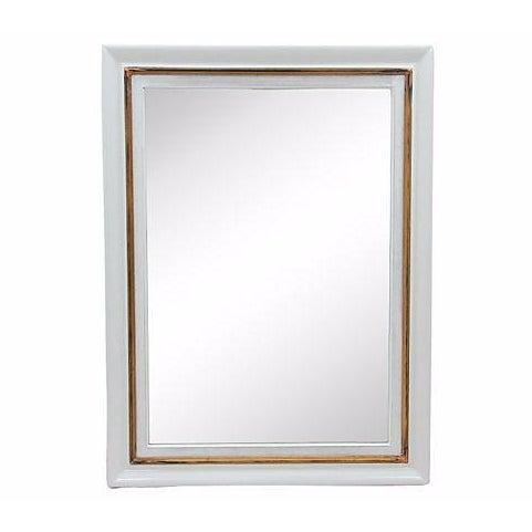 Rectangular Gray Framed Wall Mirror - Image 1 of 5