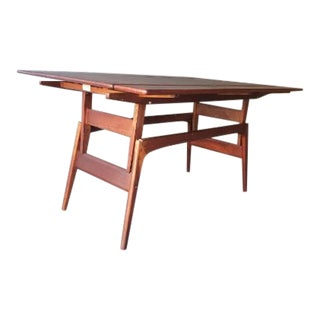 1960s Danish Modern Transformer Adjustable Coffee to Dining Table For Sale