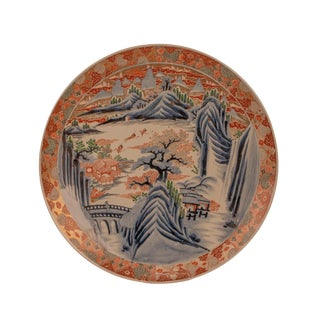 1890s Japanese Large Imari Charger Plate For Sale