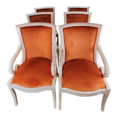 1980s Vintage Enrique Garcel Tiled Chairs- Set of 6 For Sale