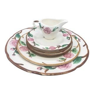 1940s Vintage Metlox Poppytrail's Camellia Dinnerware - 7 Pieces For Sale