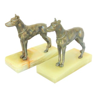 Vintage German Pinscher Bookends - a Pair