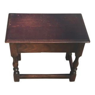 Early 20th Century Vintage English Pegged Joint Stool For Sale