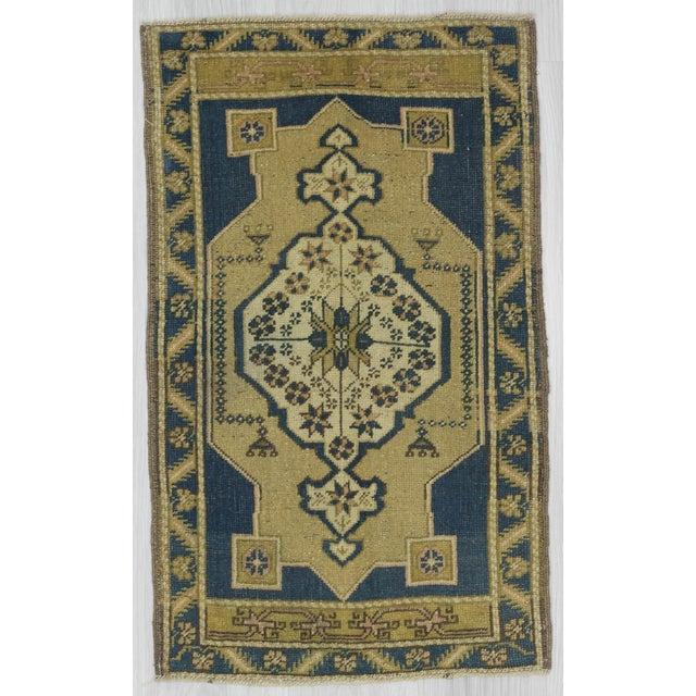 1960s Turkish Mini Wool Carpet For Sale - Image 4 of 4