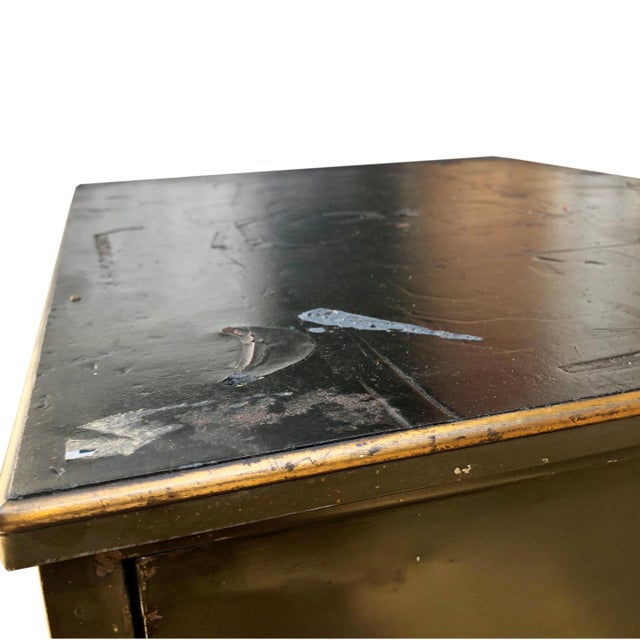 Olive Vintage Industrial Addressograph Steel Metal 18-Drawer Catalogue File Cabinet For Sale - Image 8 of 10