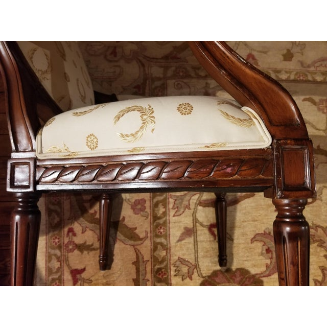Mid 20th Century Louis XVI Fauteuil For Sale In Raleigh - Image 6 of 9