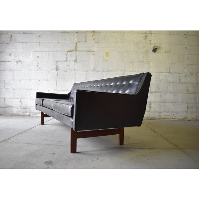 "Mid Century Modern ""James Bond"" Tufted Sofa / Couch - Image 6 of 9"