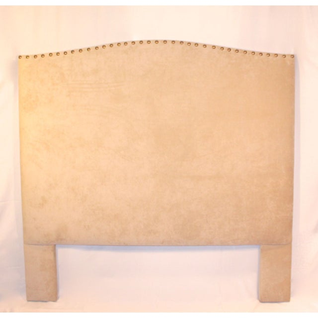 Custom Queen Neutral Tufted Headboard - Image 2 of 5