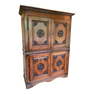 18th Century French Red Walnut Armoire For Sale