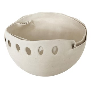Hannelore Fasciszewski Sculptural Porcelain Bowl For Sale
