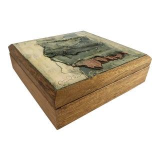 Artistic Brutalist Box/Signed For Sale