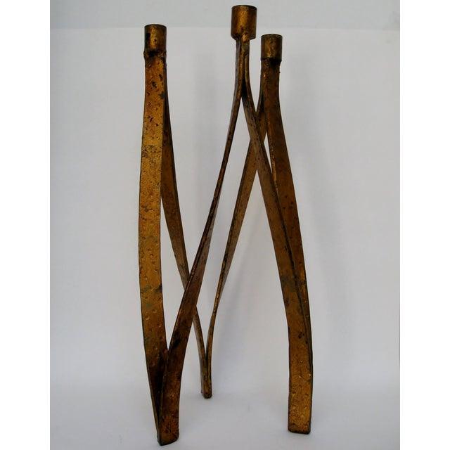 Handmade Iron Candelabra - Image 3 of 10
