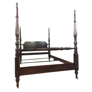 Pennsylvania House Chippendale Four Poster Solid Cherry Double Bedframe For Sale