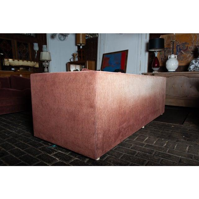 Maroon 1990s Vintage Custom Made John Saladino Sofa For Sale - Image 8 of 34