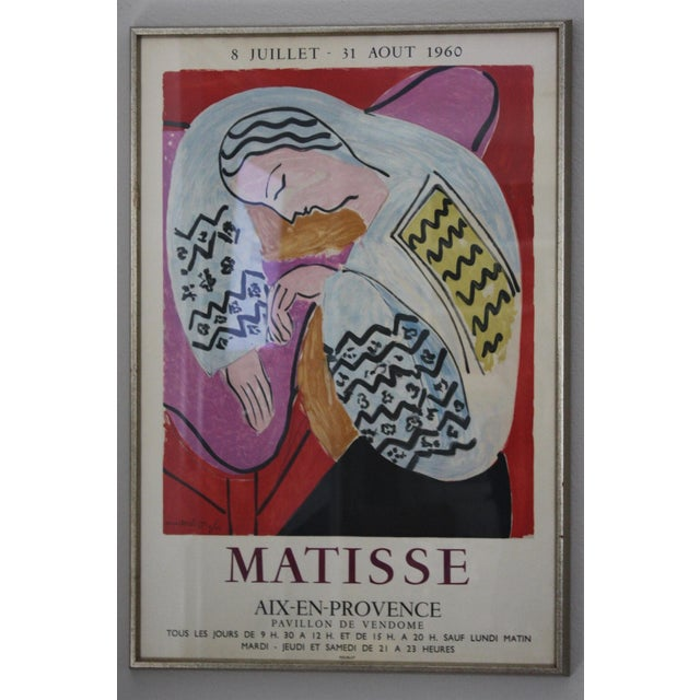 This Henri Matisse lithograph exhibition poster was created for the exhibition at the Pavillon de Vendome in Aix en...