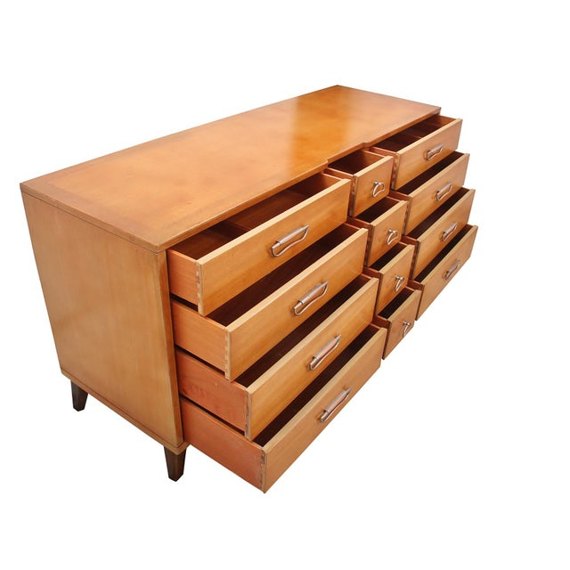 Mid Century Landstrom chest of drawers. This dresser is solid wood in perfect condition and features twelve drawers for...