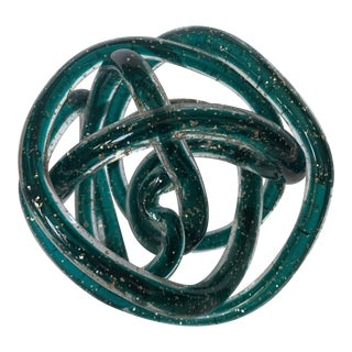 Murano Knotted Glass Rope Sculpture For Sale