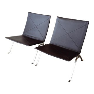 Danish Modern Poul Kjaerholm PK 22 Chairs - a Pair For Sale