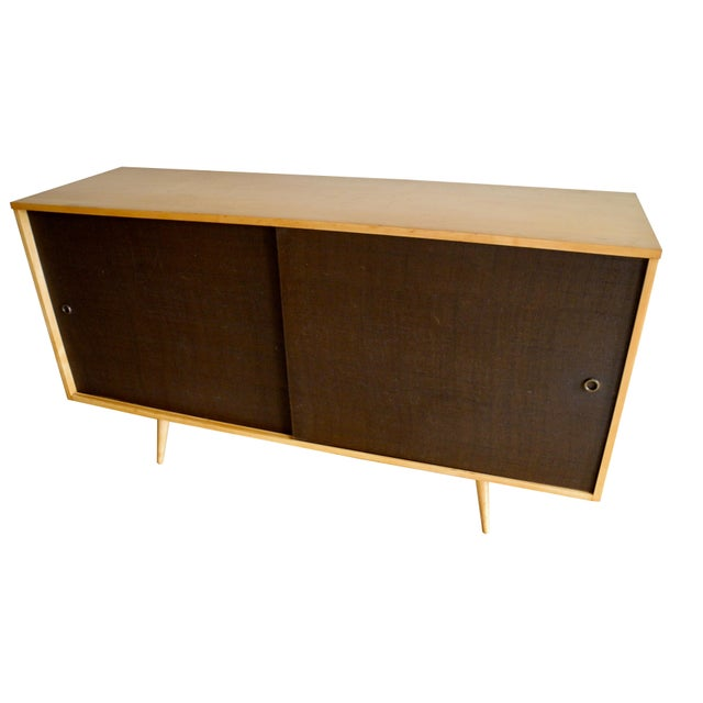 Mid 20th Century 20th Century Modern Maple Storage Credenza / Sideboard With Shelf and Drawers by Paul McCobb For Sale - Image 5 of 13