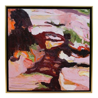 """Laurie MacMillan """"Down Slope"""" Abstract Painting For Sale"""