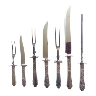 Gorham Old Medici 1880 Carving Set - 7 Pieces For Sale