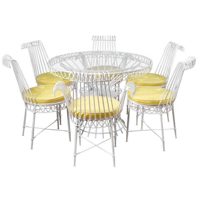 Mathieu Mategot Set of Table and 6 Chairs For Sale - Image 10 of 10