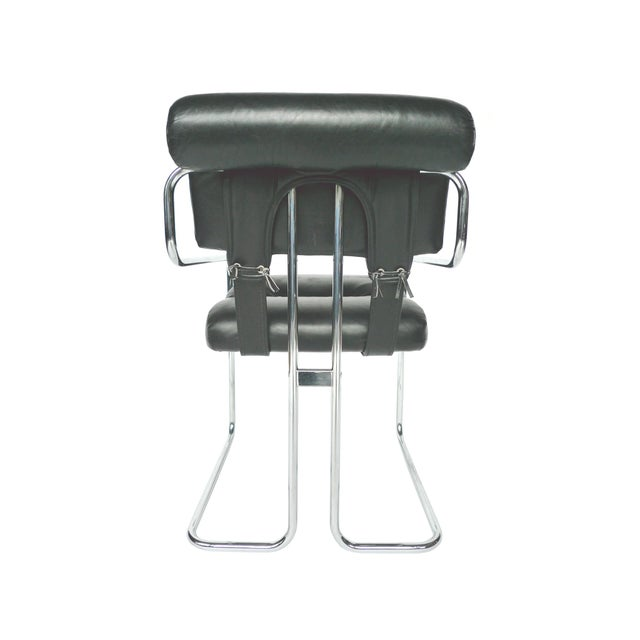 Tucroma Black Leather & Chrome Dining Chairs - Set of 4 - Image 5 of 10