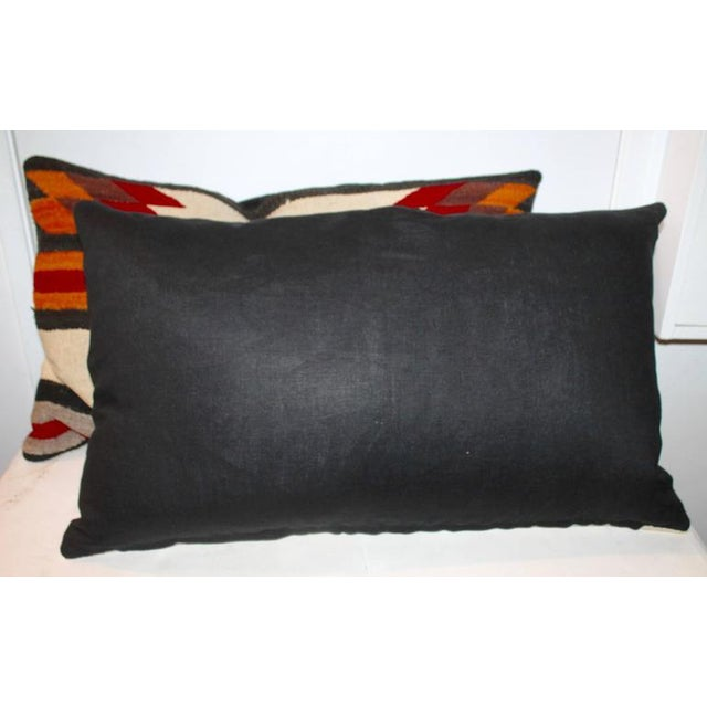 American Navajo Indian Weaving Saddle Blanket Pillows For Sale - Image 3 of 4