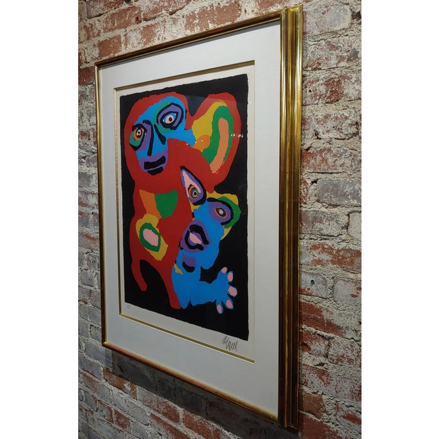 Black Karel Appel -Chien De Face -Original Artist Proof -Signed For Sale - Image 8 of 10