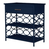 Image of Infinity End Table - Navy Blue For Sale