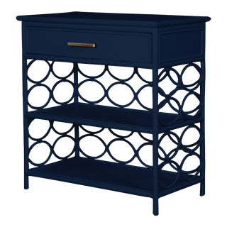 Infinity End Table - Navy Blue For Sale