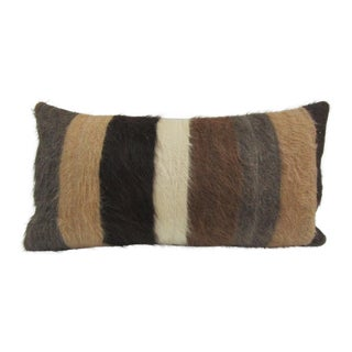 Vintage Turkish Handmade Striped Kilim Pillow Cover For Sale