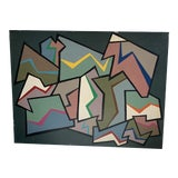 Image of 1960s Abstract Painting by Achi Sullo For Sale