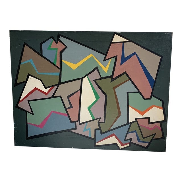 1960s Abstract Painting by Achi Sullo For Sale