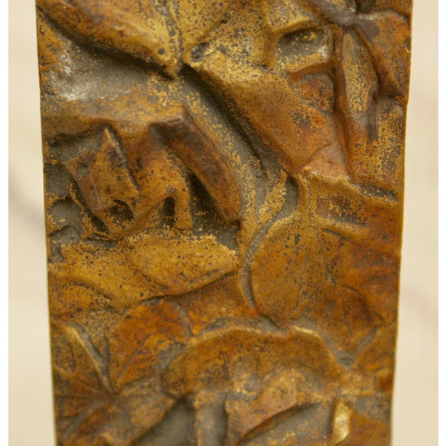Bronze Abstract on Brass Faux Bamboo Easel - Image 5 of 8