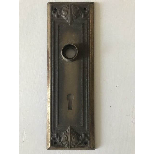 This set of four keyhole plates were made in the early twentieth century and have a wonderful embossed design. They are in...