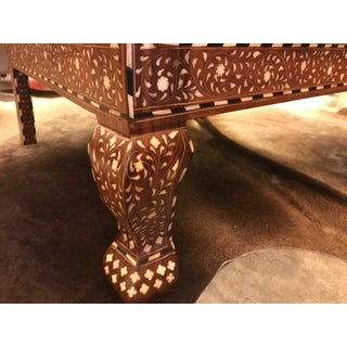 Inlaid Exotic Wood and Bone, Caned Armchair, Hand-Made in India Preview