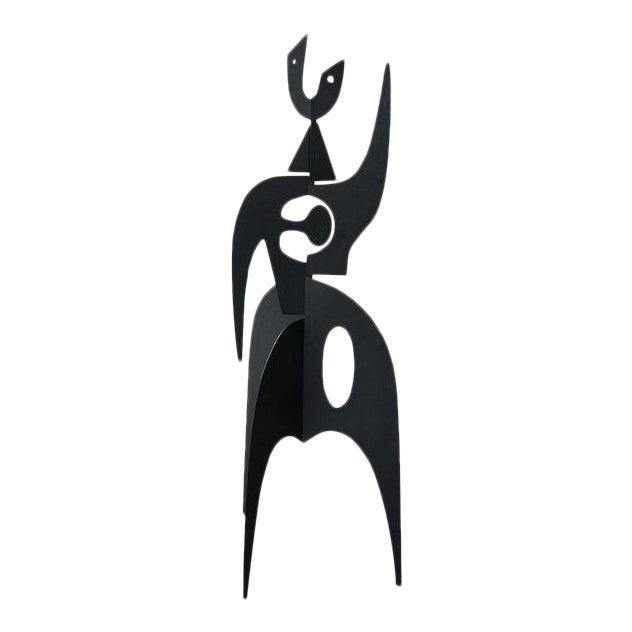 Vintage Iron Sculpture Signed by French Artist Antonine De Saint Pierre For Sale