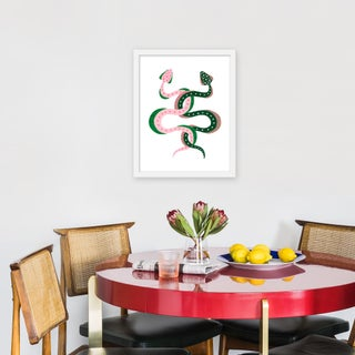 """Small """"Edamami & Bok Choy the Snakes"""" Print by Willa Heart, 16"""" X 20"""" Preview"""