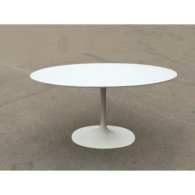 Mid 20th Century Mid-Century Saarinen Style Oval Tulip Table For Sale - Image 5 of 12