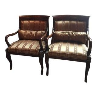 Ferguson Copeland Dark Wood Chairs - A Pair