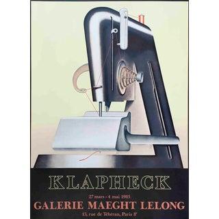 """KONRAD KLAPHECK Le Sphynx 33.75"""" x 24.25"""" Lithograph 1985 Vintage Black & White - Set of 9 For Sale"""