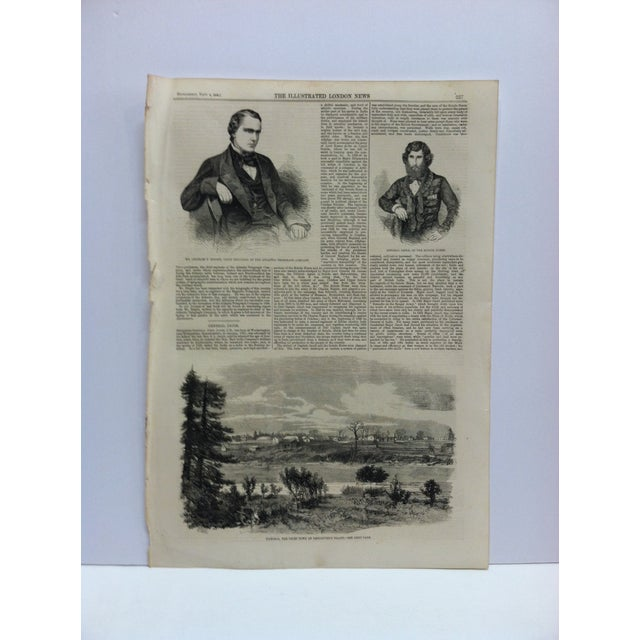 """Mid 19th Century 1858 Antique """"Victoria - the Chief Town of Vancouver's Island"""" The Illustrated London News Print For Sale - Image 5 of 5"""