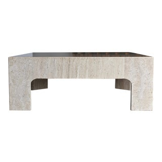 Travertine Coffee Table, Circa 1980 For Sale