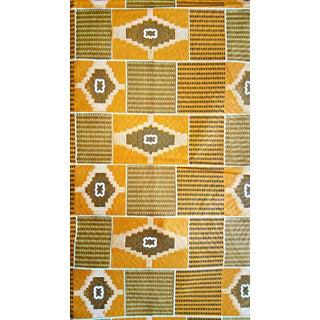 1970s Vintage African Orange Fabric For Sale