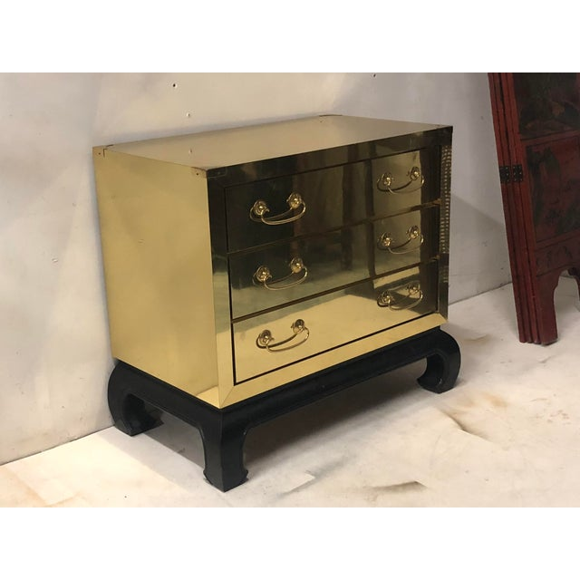Asian Modern Style Brass Chest For Sale - Image 4 of 6