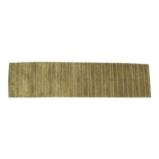 Tufenikian Carpets Long Wool Green Runner 5' X 18' For Sale