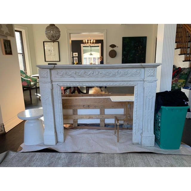 1900s Marble Fireplace Mantel For Sale - Image 12 of 12