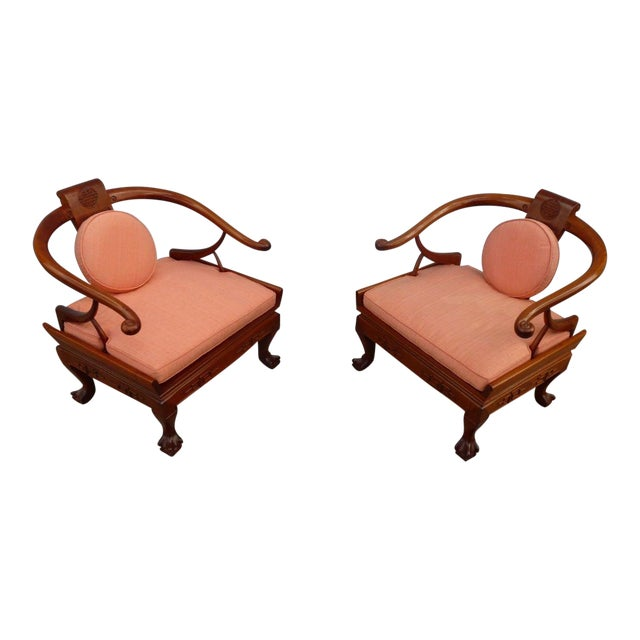 1960s Ming Arm Chairs - a Pair For Sale