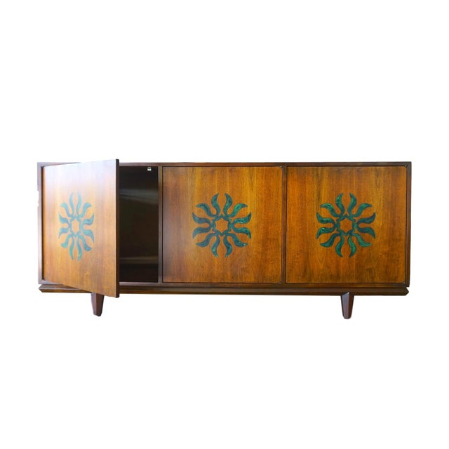Cal Mode Resin & Walnut Credenza - Image 2 of 5